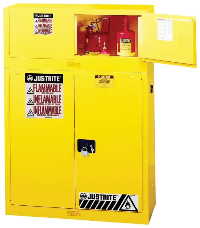 Justrite™ Sure-Grip™ Piggyback Flammable Safety Cabinet