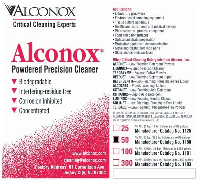 AlconoxPowdered Precision Cleaner:Laboratory Wipes and Cleaners:Labware