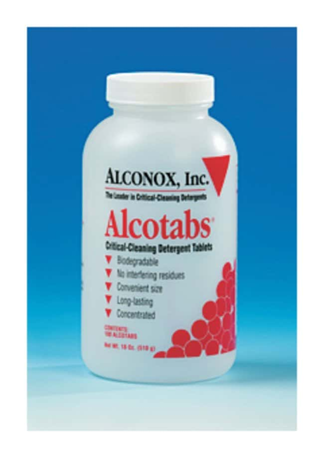 AlconoxAlcotabs Critical Cleaning Detergent Tablets Case of 6 bottles of