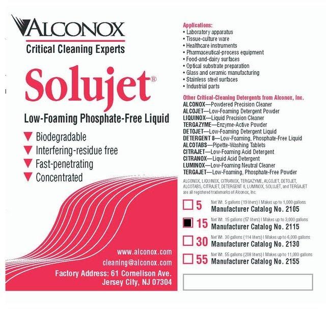 AlconoxSolujet Low-Foaming Phosphate-Free Liquid Detergent 56.7L (15 gal.)