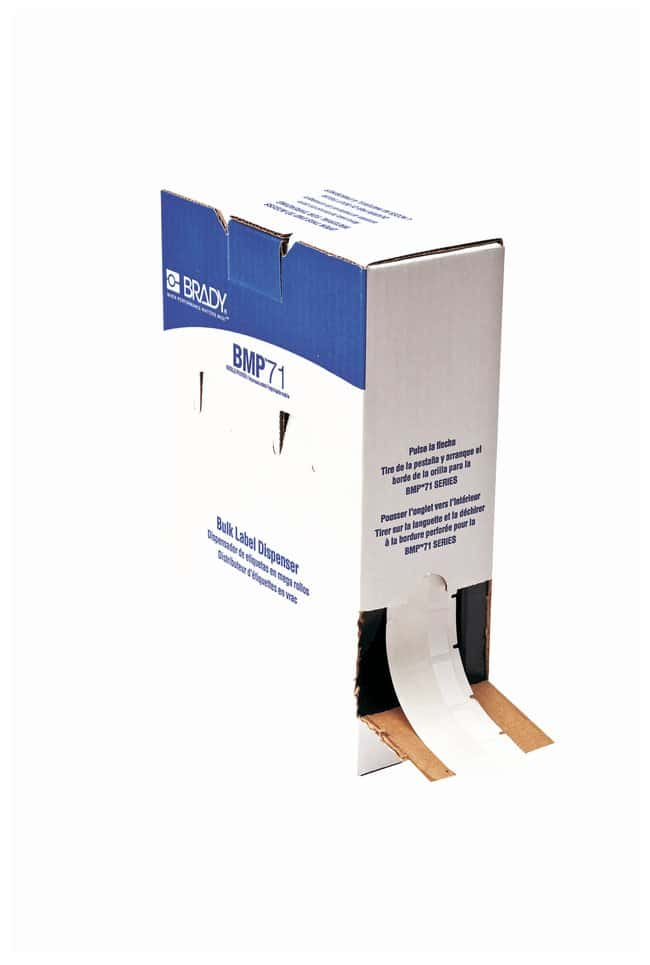 Brady™B-427 Self Laminating Vinyl Bulk BMP71 Printer Labels W x H: 25.4 x 38.1mm (1 x 1.5 in.); Bulk; 2500/Roll Brady™B-427 Self Laminating Vinyl Bulk BMP71 Printer Labels