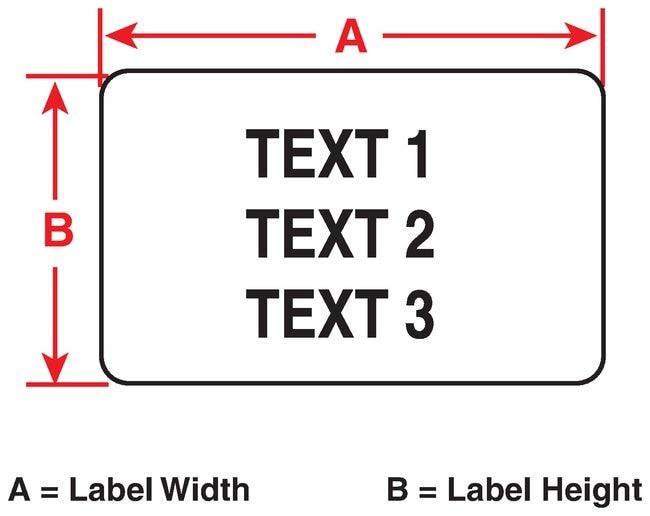 Brady FreezerBondz II Polyester Laboratory Labels B492 W x H: 41.725 x