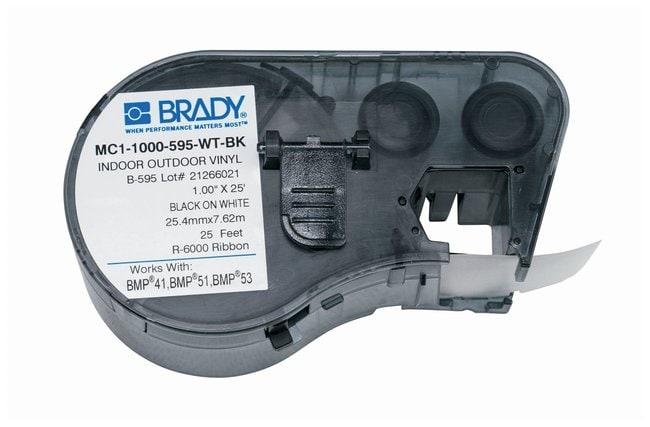 Brady™Etikettierer-Vinylassetten (B-595) für BMP51, BMP53, BMP41 Drucker Schwarz auf Weiß Brady™Etikettierer-Vinylassetten (B-595) für BMP51, BMP53, BMP41 Drucker