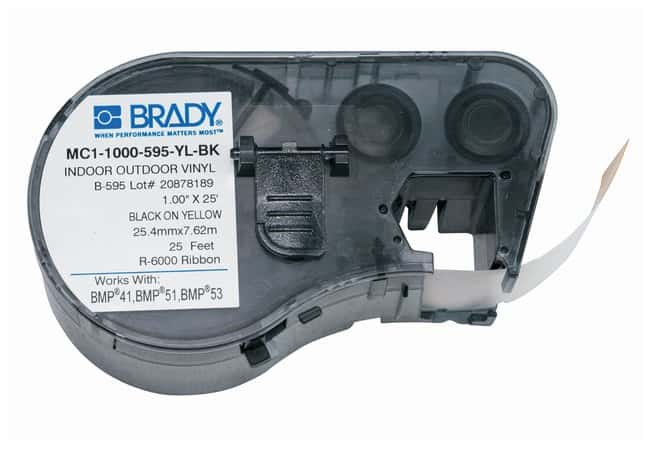 Brady™Label Maker Vinyl Cartridges (B-595) for BMP51, BMP53, BMP41 Printers Black on yellow Brady™Label Maker Vinyl Cartridges (B-595) for BMP51, BMP53, BMP41 Printers