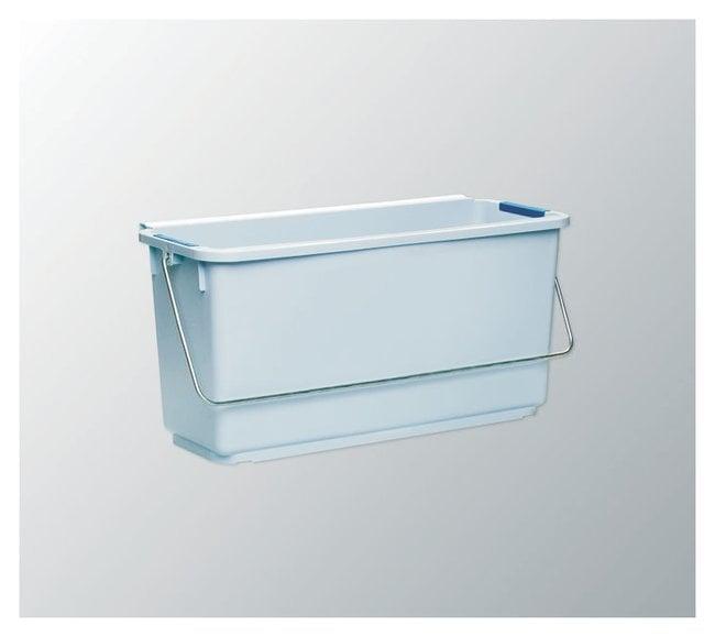 Vileda Professional 25L Longish Bucket With Color Coding Clips Color: Gray;