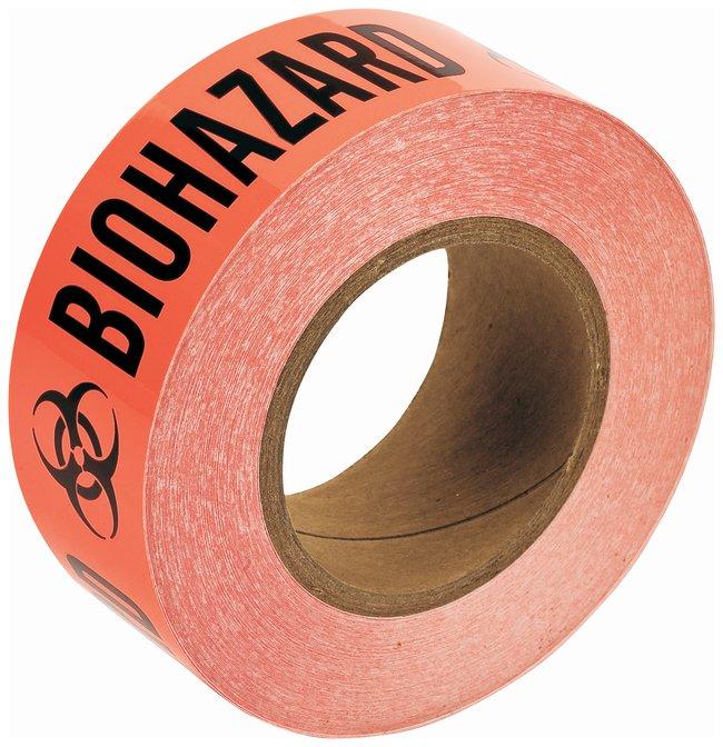 BradyBiohazard Identification Vinyl Tapes Roll size: 2 in. W x 108 ft.