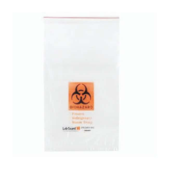 Minigrip Lab Guard Three Wall Biohazard Specimen Bags Size: 11 x 18 in.;