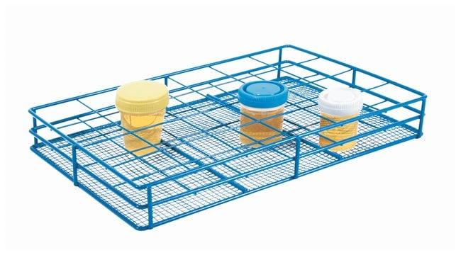 Heathrow Scientific HDPE Coated Wire Urine Container Rack, 58 mm dia.,