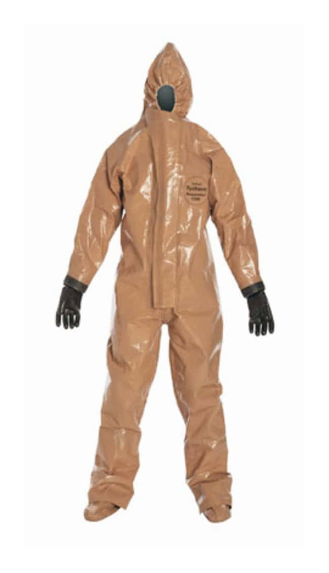 DuPont Tychem Responder CSM Coverall Large; Chest width: 25.25 in.; Fits
