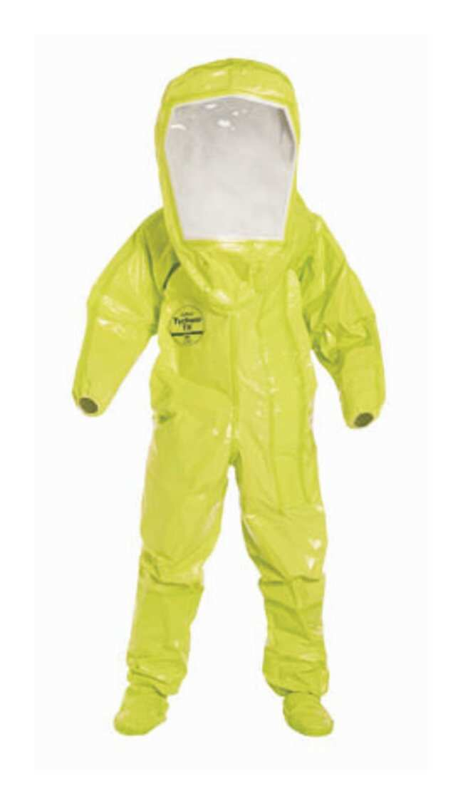 DuPont Tychem TK Encapsulated Level B Suit Large; Chest width: 30 in.;