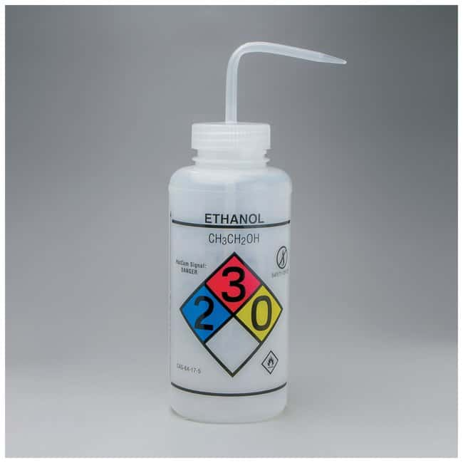 Bel-Art  SP Scienceware  Right-to-Know, Safety-Vented Wash Bottles with GHS Labeling