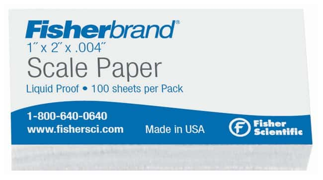Fisherbrand™ Liquid Proof Scale Papers