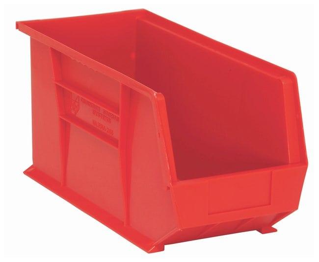 FisherbrandUltra Stack and Hang Bins Red; L x W x H: 45.7 x 20.9 x 22.8cm:Facility