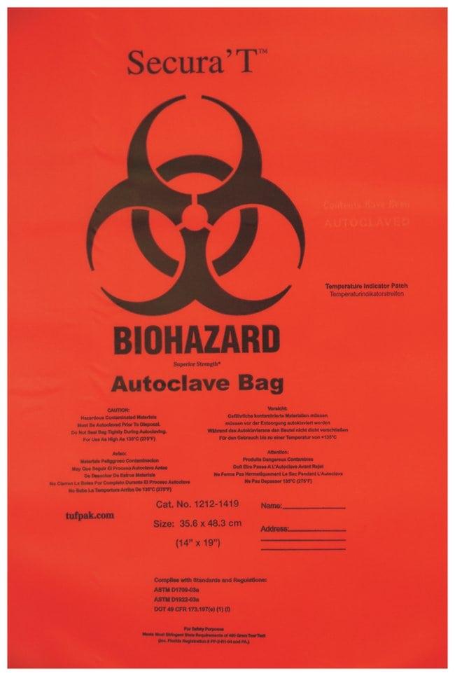 Tufpak Secura T Autoclavable Biohazard Bags