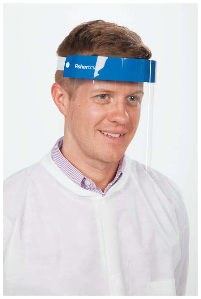 Fisherbrand Disposable Face Shields Size: Medium:Gloves, Glasses and Safety