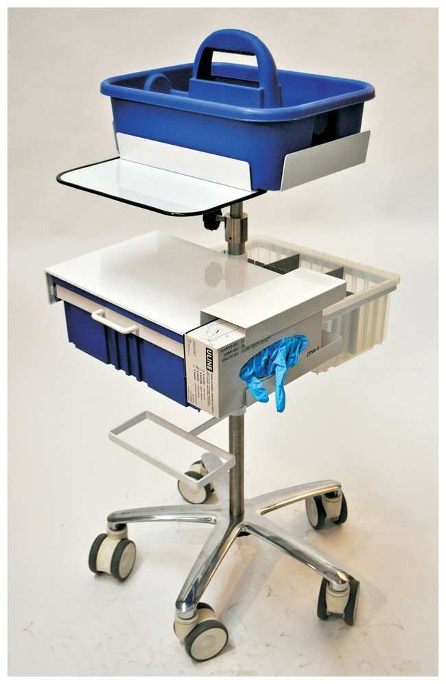 Centicare Deluxe Tray Phlebotomy Carts With 4 In Casters