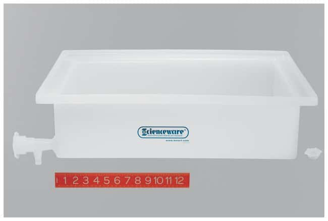 Bel-Art SP SP Scienceware General Purpose Trays With Faucets Dimensions: