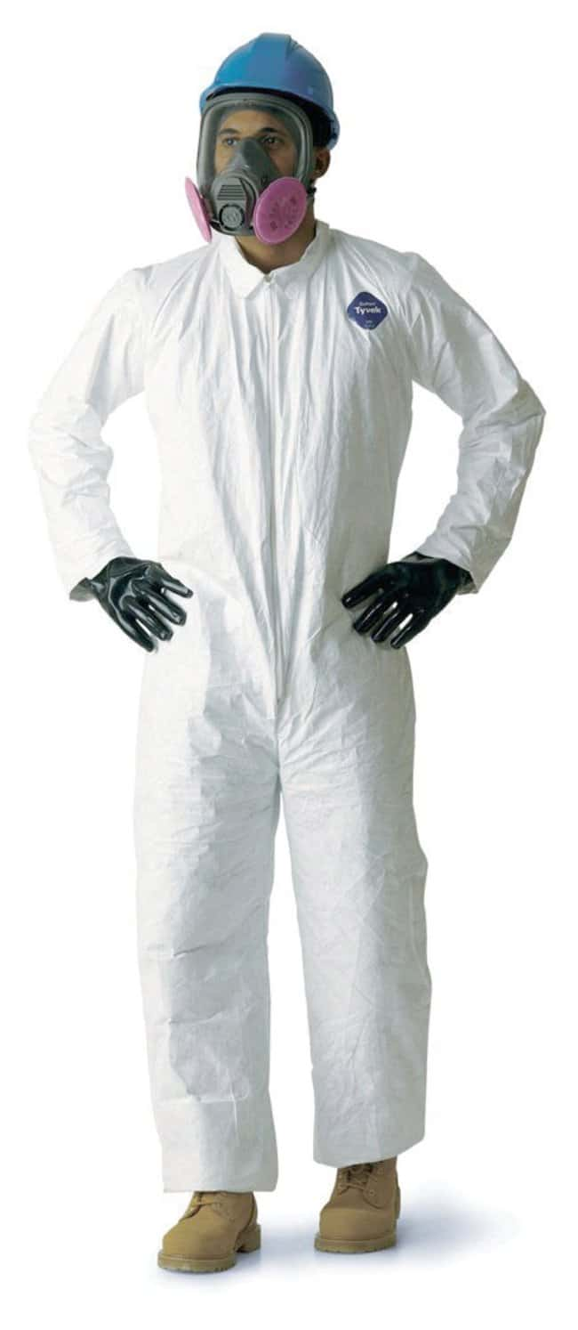 DuPont Tyvek 125S Series Coveralls Elasticized wrists and ankles; White;