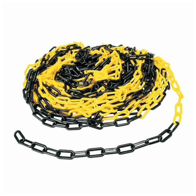 Brady Bradylink Warning Chains Link Size: 5.08cm (2 in.); Color: Black/Yellow:Gloves,