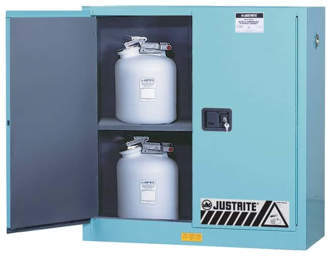 Justrite Metallic Acids Cabinet with ChemCor Liner:Fume Hoods and Safety
