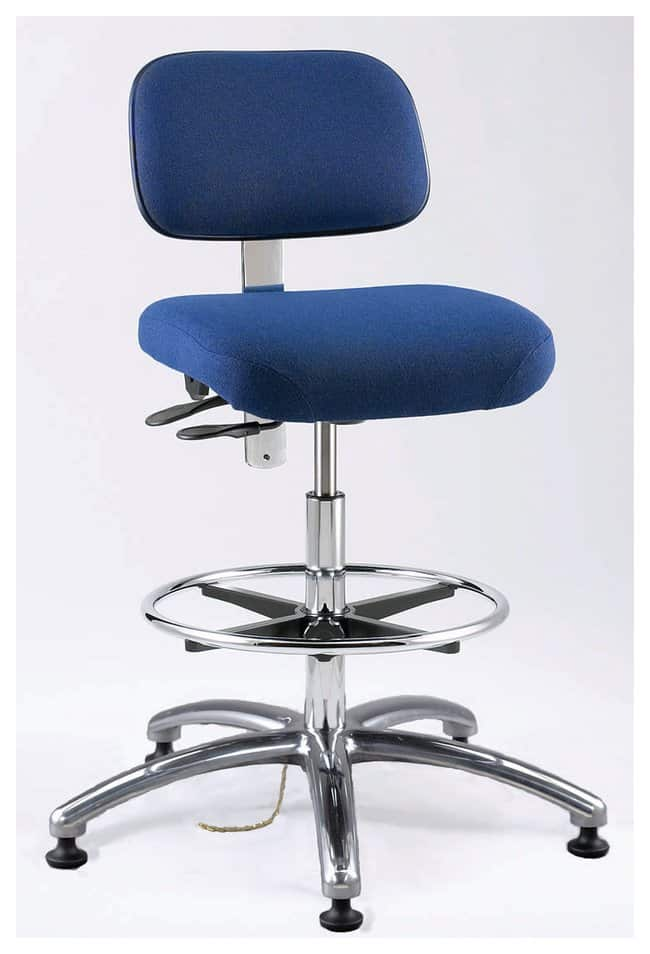 Bevco Doral E-Series ESD Upholstered Seating Esd Stool Uphol Tilt 23-33blue:Furniture,