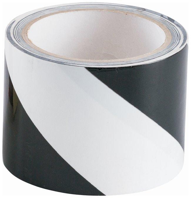 Brady Striped Warning Tapes Color: Black/White;  L x W: 16.4m x 7.62cm