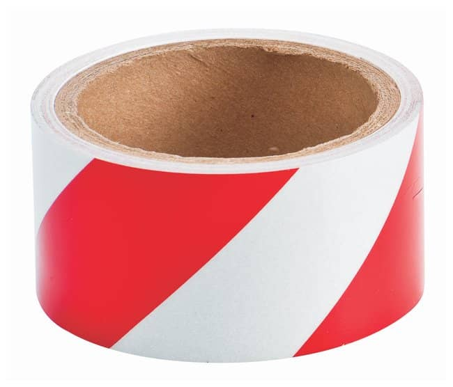 Brady Reflective Tapes Striped tape; Color: Red and White:Racks, Boxes,