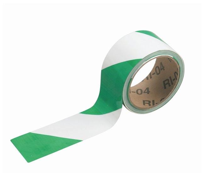 Brady Striped Warning Tapes Color: Green/White; L x W: 16.4m x 5.08cm (54