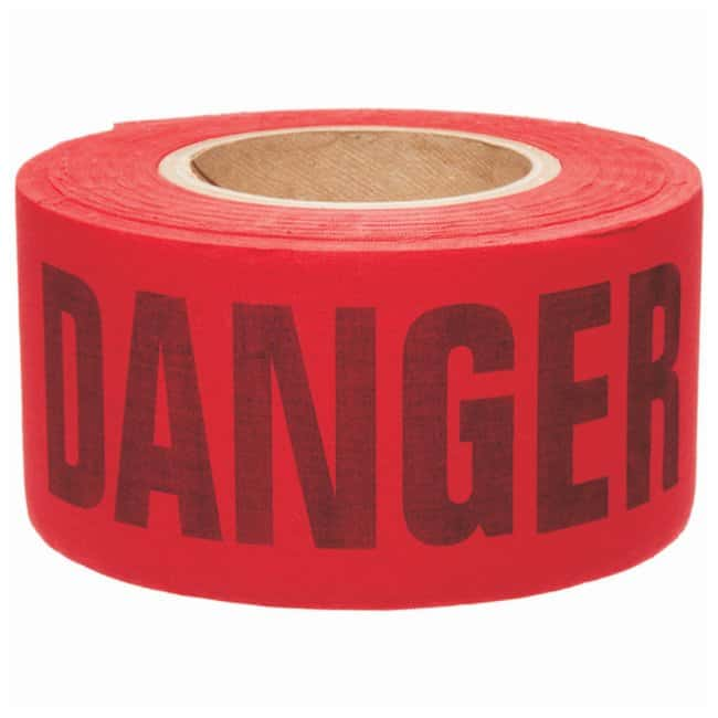 Brady Re-Pulpable Barricade Tapes Legend: Danger; Color: Black/Red:Racks,