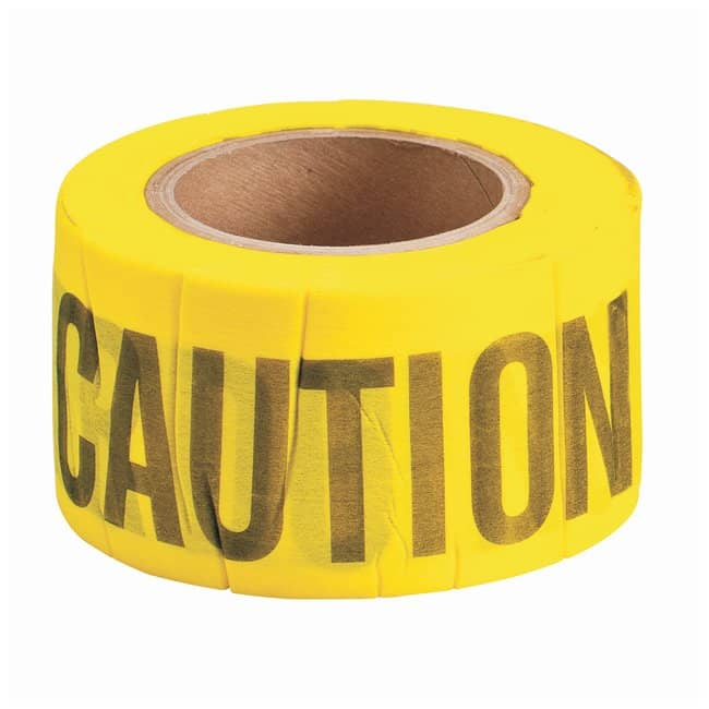Brady Biodegradable Flagging Tapes Legend: Caution; Color: Black/Red:Racks,