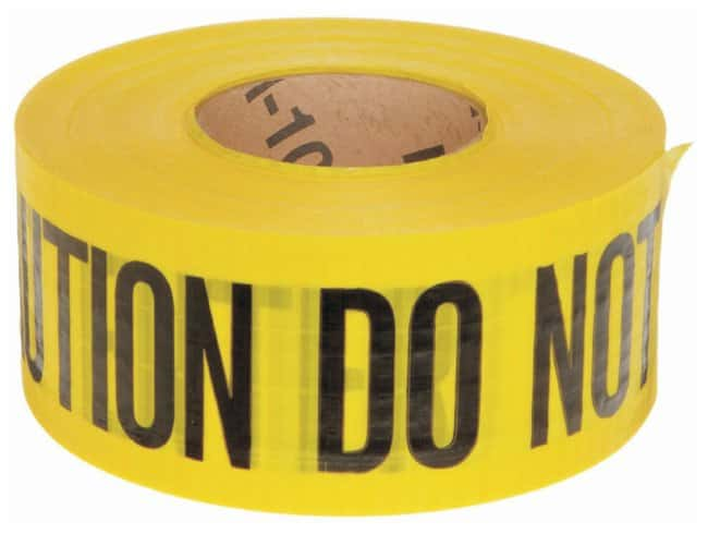 Brady Reinforced Barricade Tapes Legend: Caution Do Not Enter:Racks, Boxes,