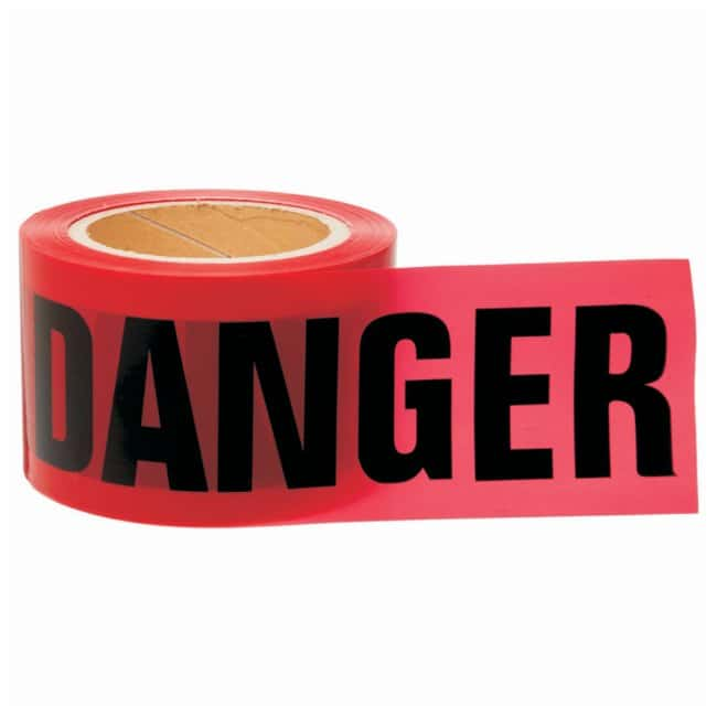 Brady Barricade Tapes Legend: Danger; Color: Black/Red; L x W: 60.9m x