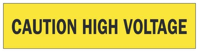 Brady Barricade Tapes Legend: Caution High Voltage; Color: Black/Yellow;