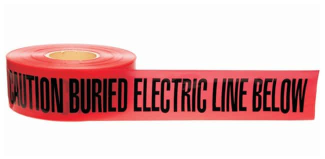 Brady Identoline Underground Warning Tapes Color: Black on Red; Legend: