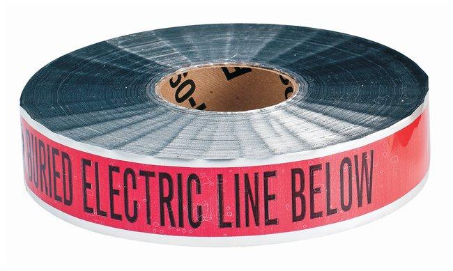 Brady Identoline Detectable Warning Tapes Color: Black on Red; Legend: