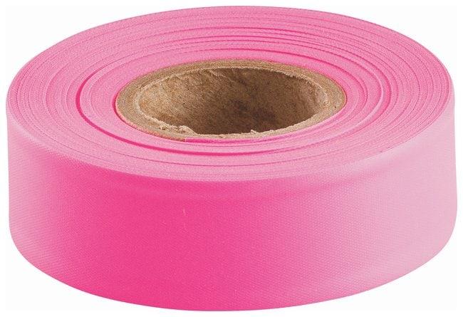 Brady Flagging Tapes Color: Fluorescent pink; L x W: 45.7m x 3cm (150 ft.
