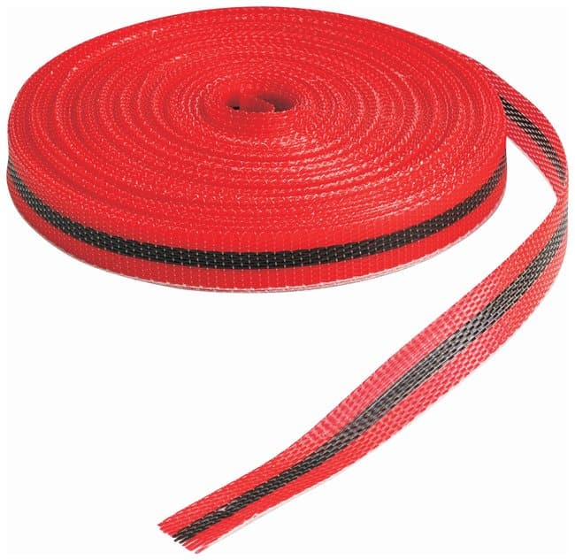 Brady Woven Barricade Tapes Color: Black/Red; L x W: 45.7m x 1.9cm (150