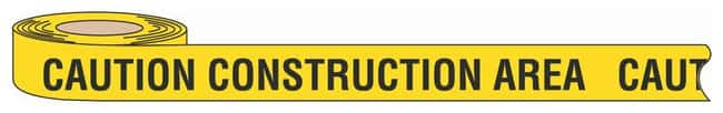 Brady Barricade Tapes Legend: Caution Construction Area; Color: Black/Yellow;