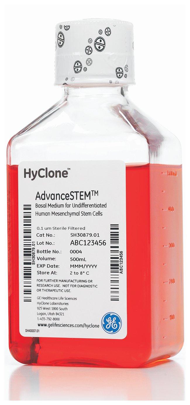 Cytiva (Formerly GE Healthcare Life Sciences)HyClone™ AdvanceSTEM™ Expansionskit für mesenchymale Stammzellen Nur Basalmedium; 500ml Cytiva (Formerly GE Healthcare Life Sciences)HyClone™ AdvanceSTEM™ Expansionskit für mesenchymale Stammzellen