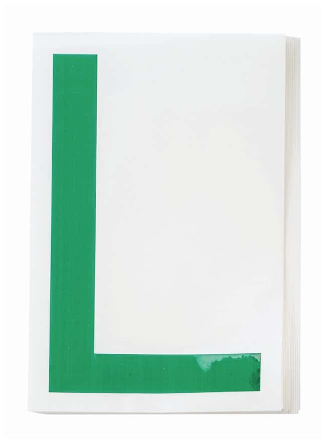 Brady ToughStripe Die-Cut Floor Marking Letter L Color: Green:Racks, Boxes,
