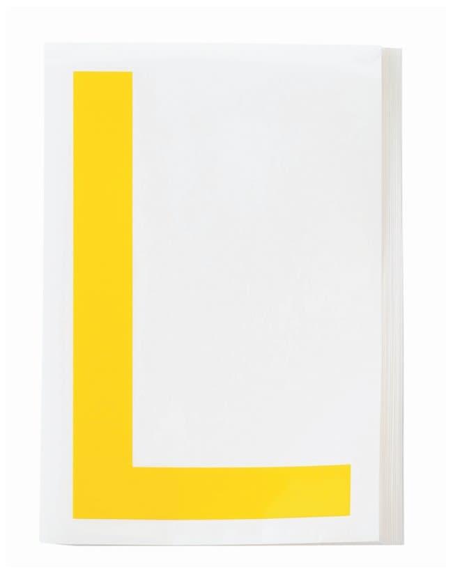 Brady ToughStripe Die-Cut Floor Marking Letter L Color: Yellow:Racks, Boxes,