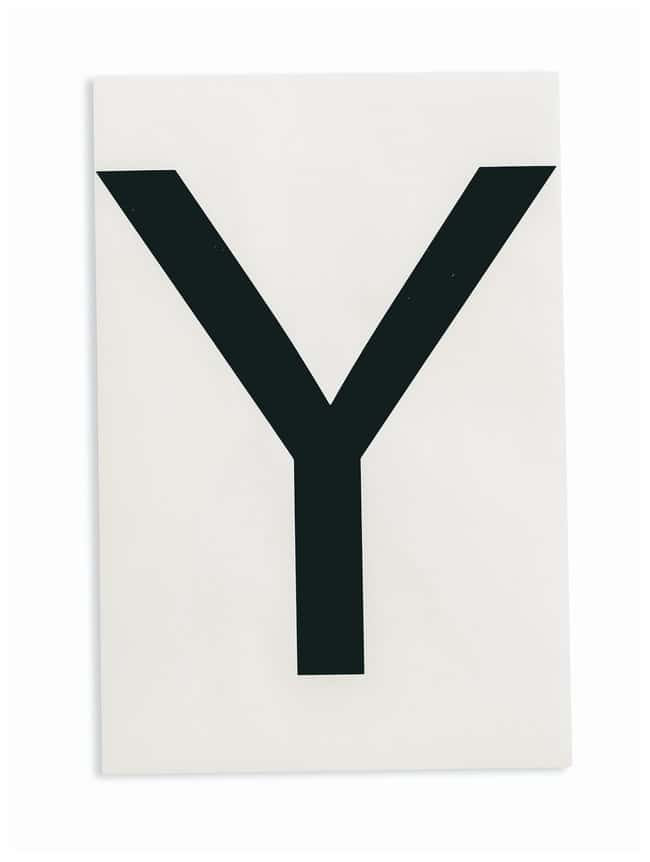 Brady ToughStripe Die-Cut Floor Marking Letter Y Color: Black:Racks, Boxes,