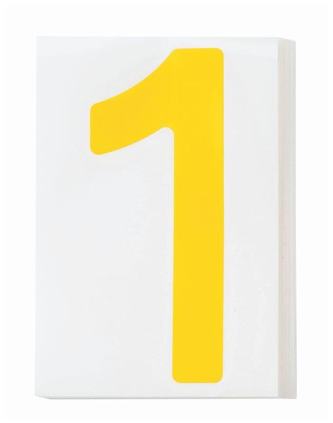 Brady ToughStripe Die-Cut Floor Marking Number 1 Color: Yellow:Racks, Boxes,