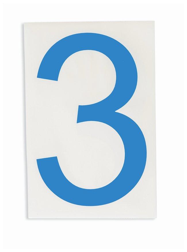 Brady ToughStripe Die-Cut Floor Marking Number 3 Color: Blue:Racks, Boxes,