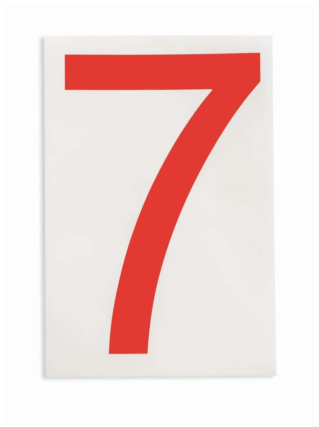 Brady ToughStripe Die-Cut Floor Marking Number 7 Color: Red:Racks, Boxes,