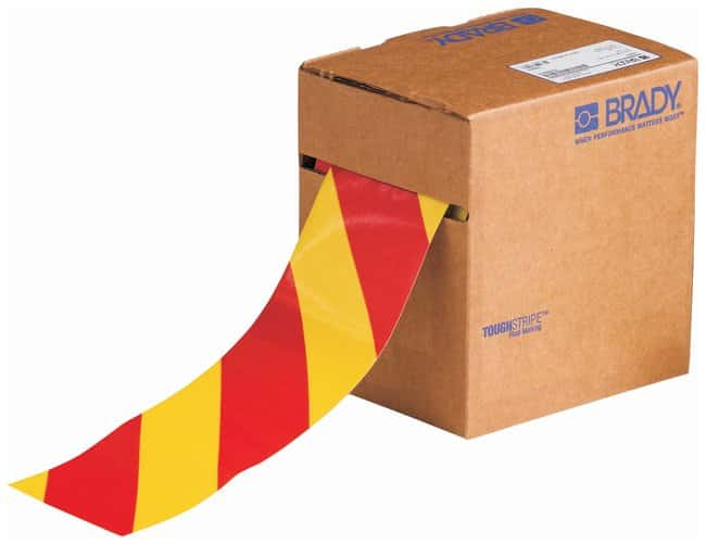 Brady ToughStripe Striped Floor Marking Tapes Color: Red/Yellow; L x W: