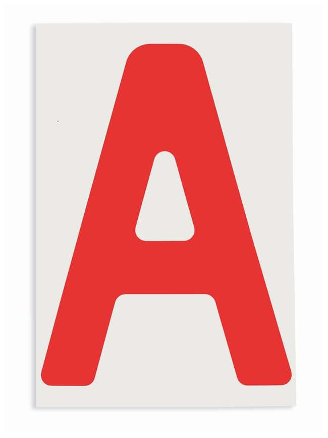 Brady ToughStripe Die-Cut Floor Marking Letter A Color: Red:Racks, Boxes,