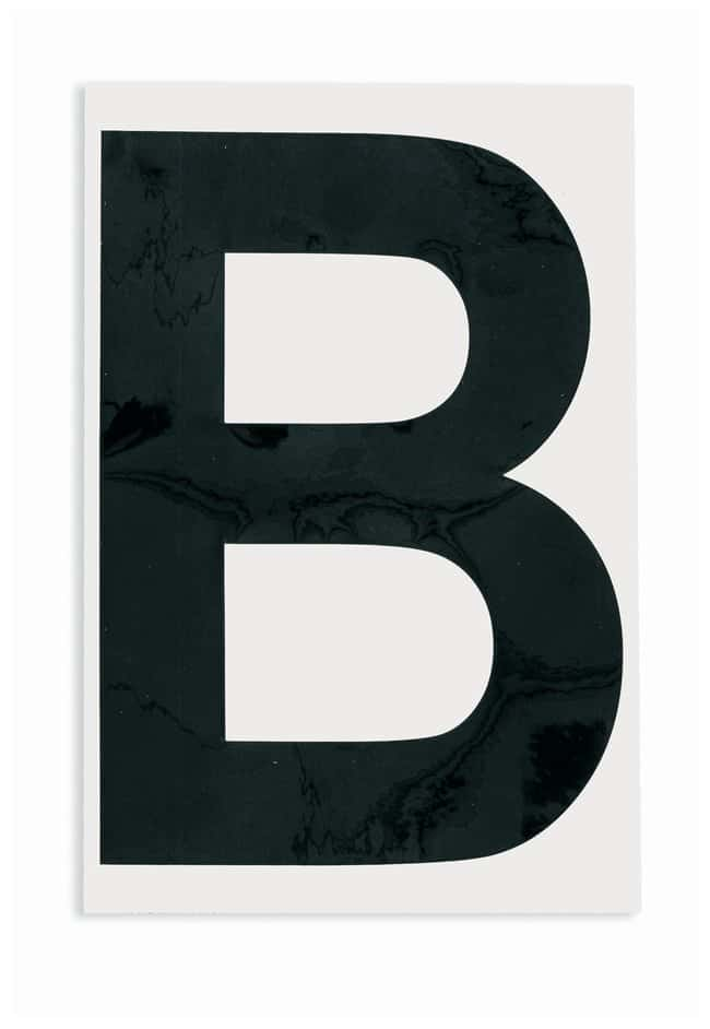Brady ToughStripe Die-Cut Floor Marking Letter B Color: Black:Racks, Boxes,
