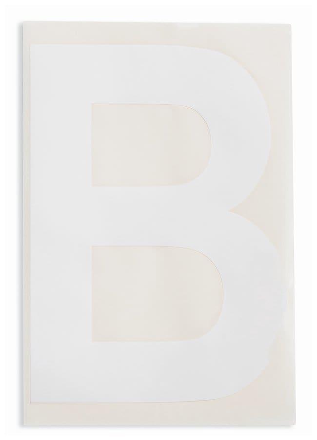 Brady ToughStripe Die-Cut Floor Marking Letter B Color: White:Racks, Boxes,