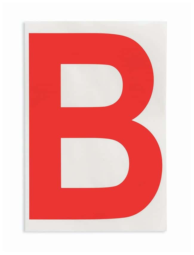 Brady ToughStripe Die-Cut Floor Marking Letter B Color: Red:Racks, Boxes,
